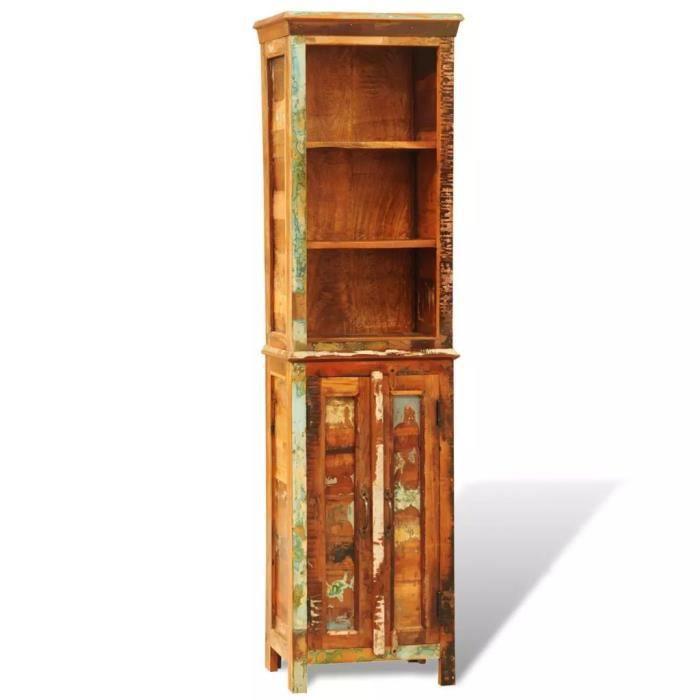 Bibliothèque en bois recyclé style vintage