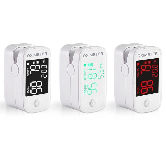 Oxymetre de doigt de pouls professionnel Tensiometre pulsations cardiaques frequence