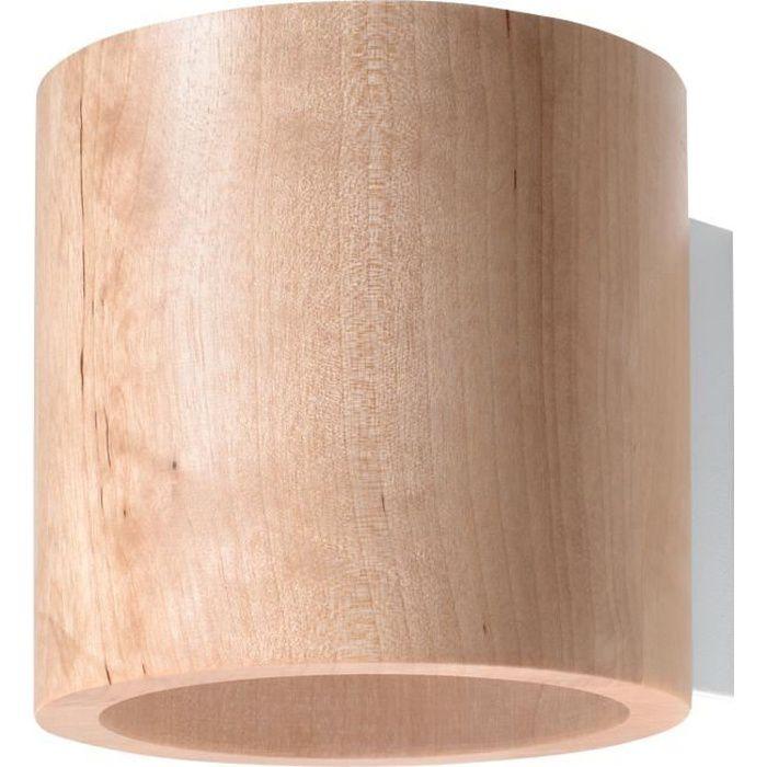 Applique Murale ORBIS Lampe Murale Moderne Boho Bois Design pr Chambre Salon Escalier Couloir - Bois Naturel