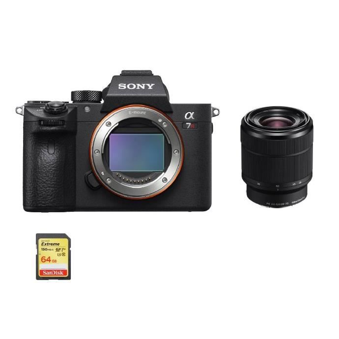 SONY A7R III + SEL 28-70MM F3.5-5.6 OSS + Carte SD de 64 Go
