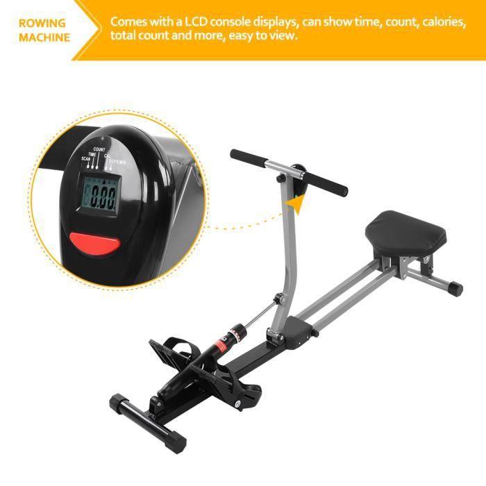 VGEBY® Rameur d'appartement - charge max. 120kg Pour fitness et cardio training