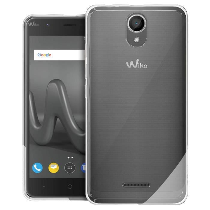 Coque Wiko Harry Protection silicone gel transparente d'origine Wiko