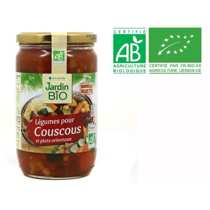 JARDIN BIO Légumes coucous bio - 660g