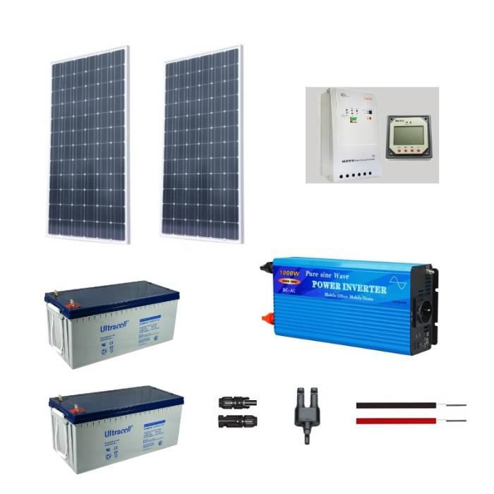 kit solaire autonome 500w 230v achat vente kit photovoltaique cdiscount. Black Bedroom Furniture Sets. Home Design Ideas