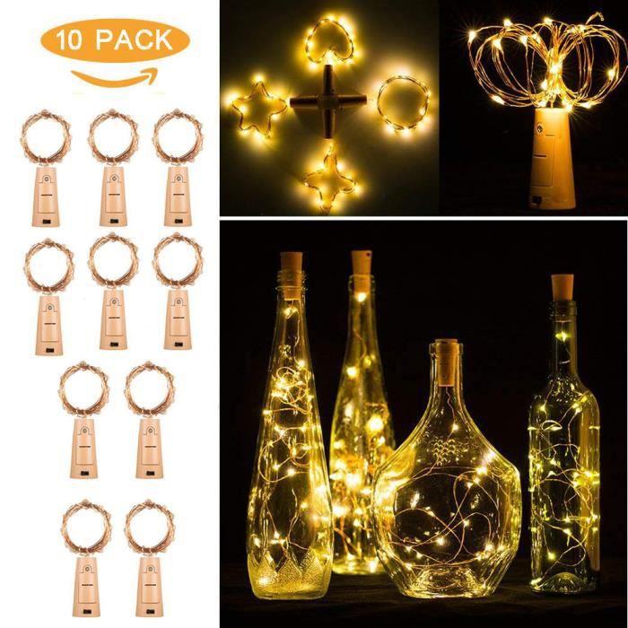 DEL Solaire Bouteille Bottle suspendues Suspendu-Lampe bouteilles lumière-éclairage Guirlande