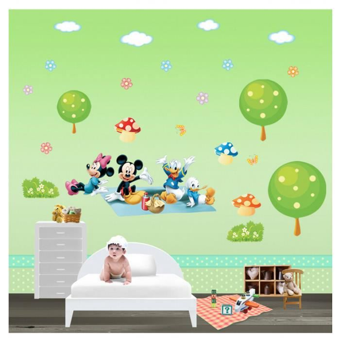 stickers muraux mickey la souris donald stickers muraux d co chambre d 39 enfant achat vente. Black Bedroom Furniture Sets. Home Design Ideas