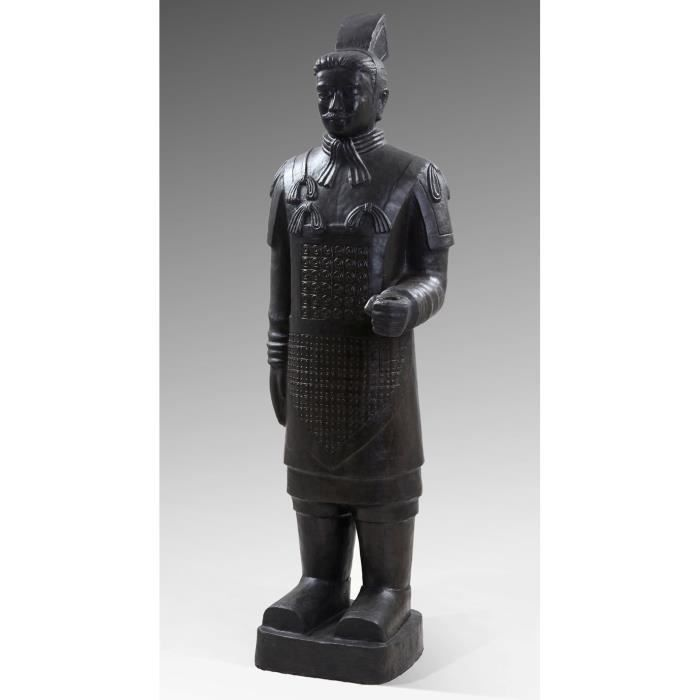 statue guerriers chinois terre cuite 200 cm achat vente buste mannequin polyr sine cdiscount. Black Bedroom Furniture Sets. Home Design Ideas