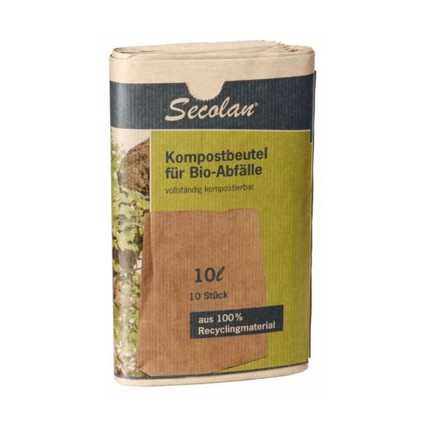 1x10 secolan sac compost 10l papier recyclable 70g prix pas cher cdiscount. Black Bedroom Furniture Sets. Home Design Ideas