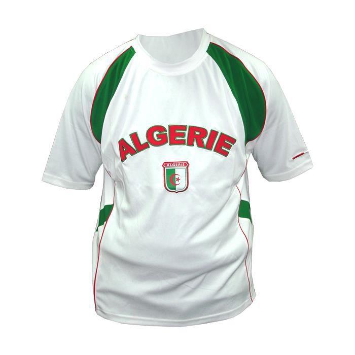 Maillot De Foot Enfant Algerie 6 Ans Blanc Prix Pas Cher Cdiscount