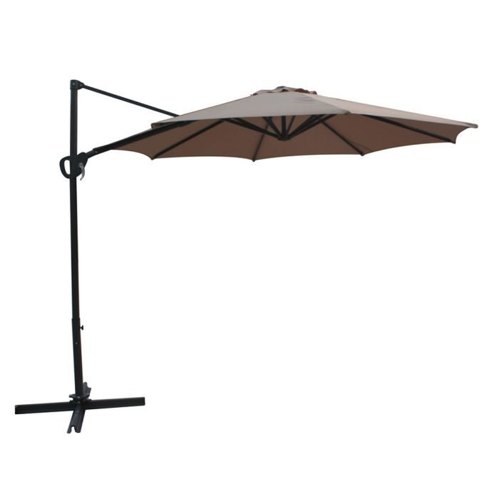 parasol jardin d port lola alu 3 m taupe achat vente parasol parasol jardin d port. Black Bedroom Furniture Sets. Home Design Ideas