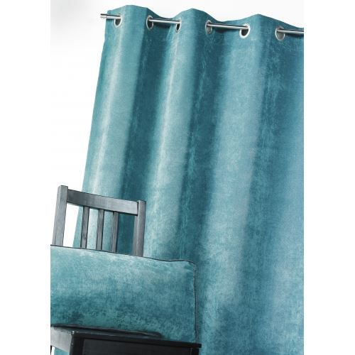 rideau bleu ptrole amazing modele de deco salon bleu canard mur couleur ptrole chemine noire. Black Bedroom Furniture Sets. Home Design Ideas