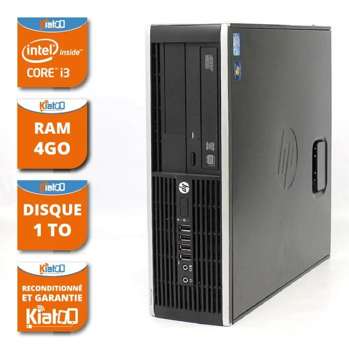 ordinateur de bureau hp elite 8200 i3 4go ram 1to disque dur pc de bureau reconditionn 233