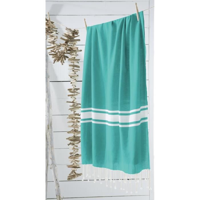 today fouta de plage 100 coton california dream 100x190 cm aqua achat vente serviette de. Black Bedroom Furniture Sets. Home Design Ideas