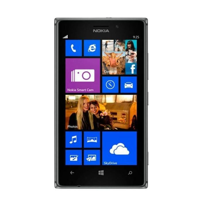 nokia lumia 925 noir reconditionne a neuf achat. Black Bedroom Furniture Sets. Home Design Ideas