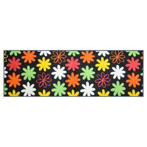 Wash dry 029892 paillasson motif mer de fleurs 60x180cm for Tapis cuisine wash and dry