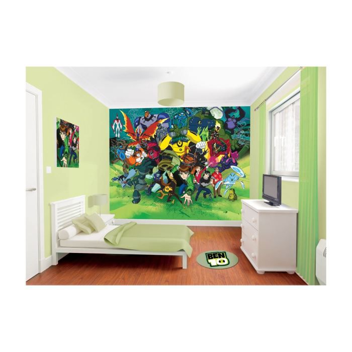 papier peint enfant ben 10 ultimate alien wallt achat vente papier peint soldes d t. Black Bedroom Furniture Sets. Home Design Ideas