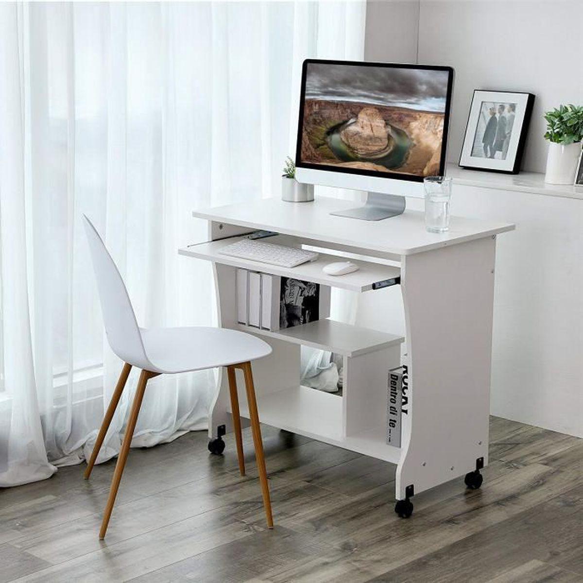 Mettre Des Roulettes Sous Une Table bureau informatique a roulettes