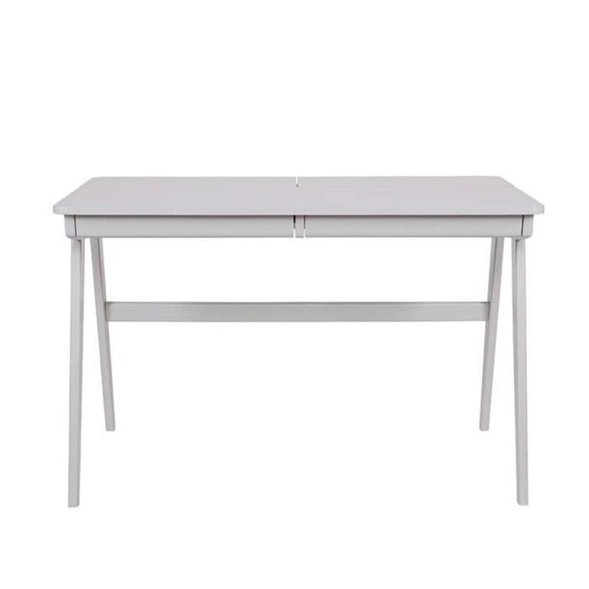 Bureau informatique en bois cambridge couleur gris achat for Achat bureau