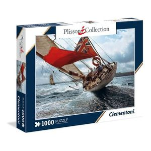 CLEMENTONI Collection Plisson Le Class J Velsheda Puzzle 1000 pi?ces - Puzzle 1000p Collection Plisson Le Class J Velsheda. Dimensions monté : 69 x 50 cm