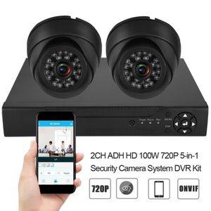 CAMÉRA DE SURVEILLANCE 720P HD Kit de DVR système caméra sécurité Onvif 2