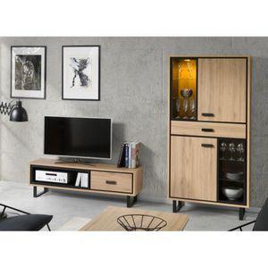 VITRINE - ARGENTIER Meuble TV + vitrine / vaisselier SOLO, idéal pour