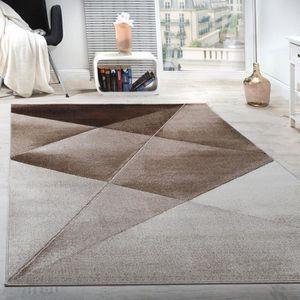 TAPIS Tapis Design Moderne Motifs Géométriques Poils Ras