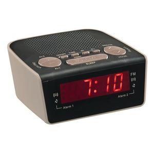 Radio réveil Clip Sonic Technology AR314G Radio réveil PLL Gris
