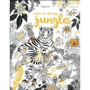 LIVRE LOISIRS CRÉATIFS Livre - cahier de coloriage jungles