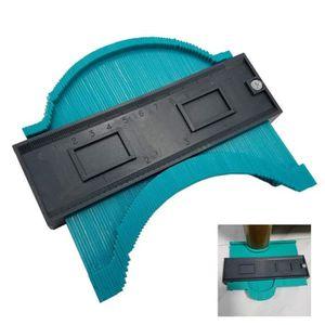Jauge de mesure de profil irr/égulier 4 pouces//120 mm plastique contour copie duplicateur cadre circulaire outil de jauge de profil bleu,1pcs