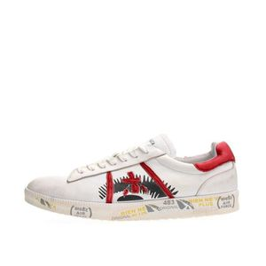 BASKET PREMIATA SNEAKERS Homme WHITE RED, 43