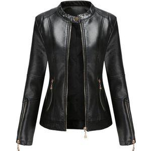 recherche veste simili cuir femme)