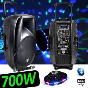 PACK SONO Enceinte Active DJ PA Gym Fitness Batterie Amplifi