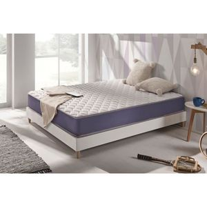 MATELAS Matelas GEL-SOFT 160x200 cm TECHNOLOGIE BLUE-LATEX