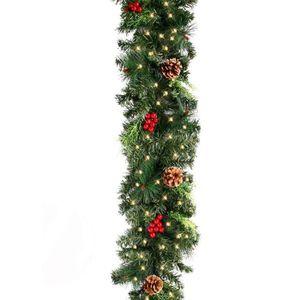 3 m x 15 cm Mega Chunky Vert Pin Guirlandes guirlande pour décoration de Noël