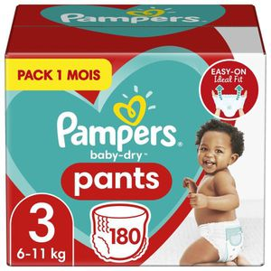 COUCHE Pampers Baby-Dry Pants Taille 3, 180 Couches-Culot