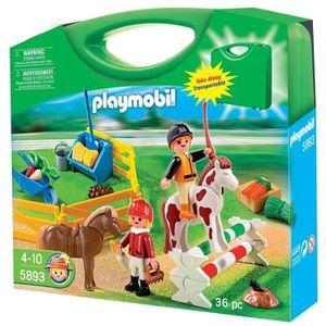 UNIVERS MINIATURE Playmobil - 5893 - Valisette Cavaliers Et Poneys
