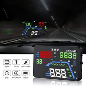 AFFICHAGE PARE-BRISE Compteur de vitesse GPS  pour voiture - Affichage