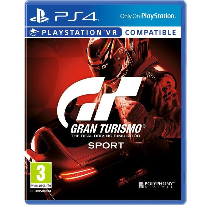 gran turismo sport jeu ps4 achat vente jeu ps4 gran turismo sport jeu ps4 cdiscount. Black Bedroom Furniture Sets. Home Design Ideas