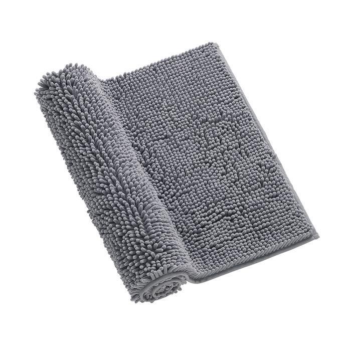 Tapis de bain en microfibre Chenille Plush Tapis de sol Tapis Doux intérieur lavable Tapis de sol Tapis de sol Salle à manger Mais