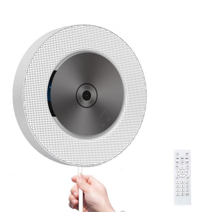 Lecteur CD Portable Avec Bluetooth Contrôle à Distance de Maison Haut-parleurs Intégrés de Hi-fi Montage Mural