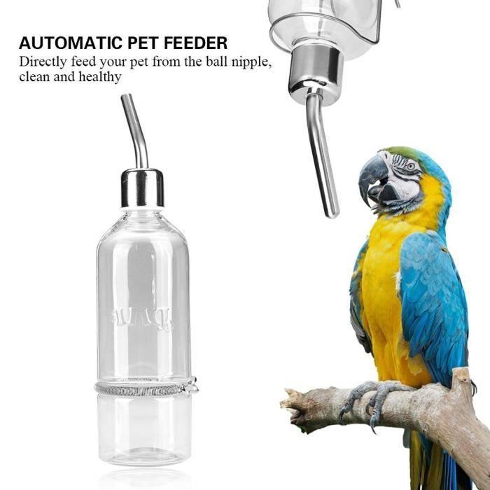 Biberon automatique d'eau de perroquet d'oiseau de conducteur d'animal familier avec le mamelon L