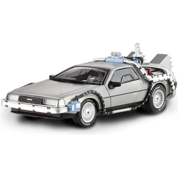Voiture Electrique XX3L8 BCK08 Delorean DMC-12 Back To The Future Time Machine With Mr. Fusion 1-43 Diecast Model Car by Hotwheels