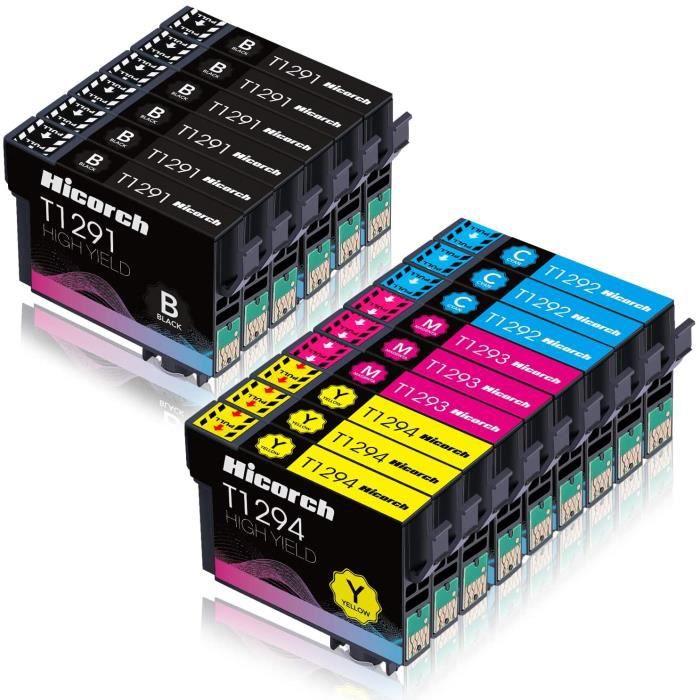 15 Hicorch Cartouches d encre compatible avec Epson T1295 pour Epson WorkForce WF-7015 WF-3540DTWF WF-3010DW imprimante