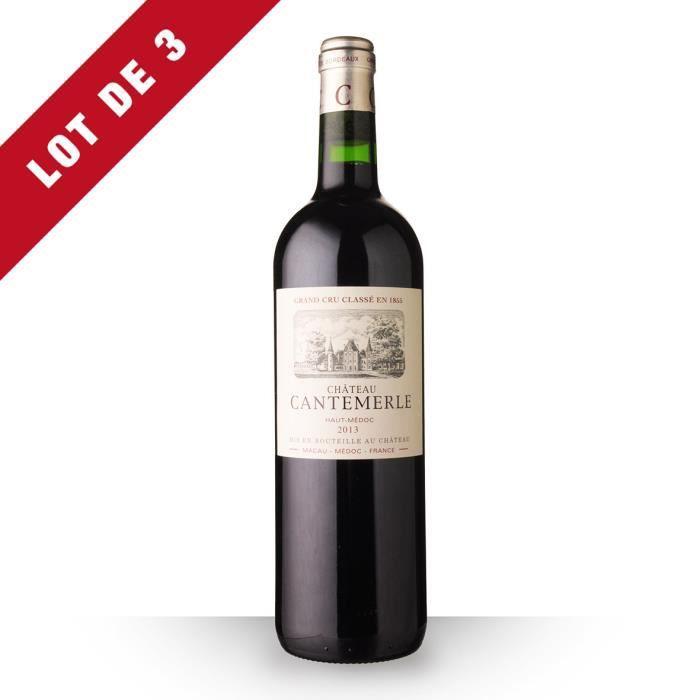 Lot de 3 - Château Cantemerle 2013 AOC Haut-Médoc - 3x75cl - Vin Rouge