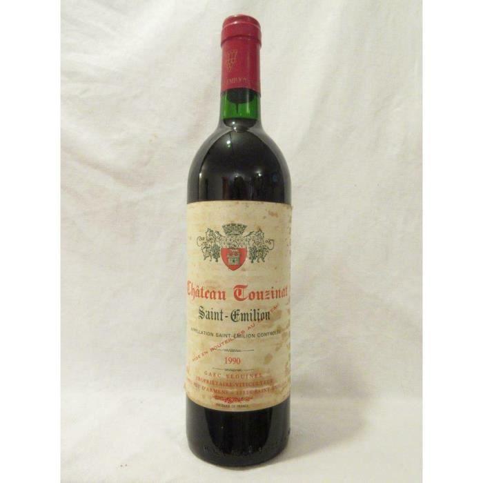 saint-émilion château touzinat rouge 1990 - bordeaux france