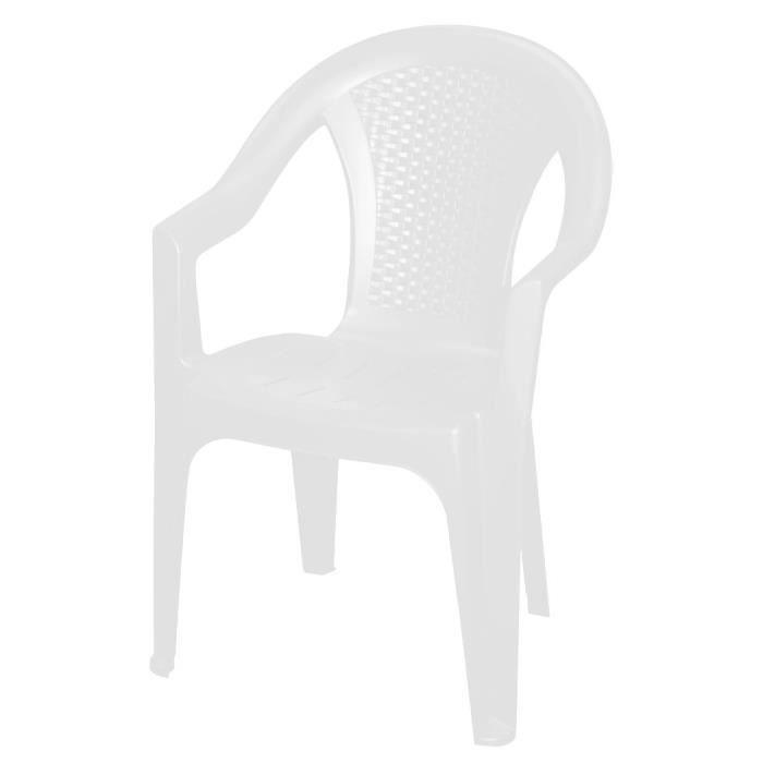Stackable garden chair in white
