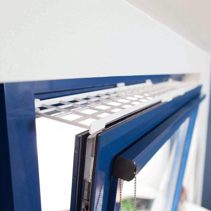 Trixie Grille de protection pour fenêtre Blanc, haut-bas, extensible 75–125 × 16 cm 316589