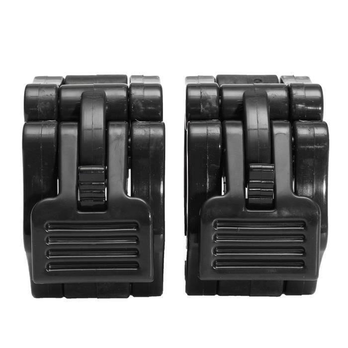 2Pcs Colliers Haltères Haltérophilie Musculation Bague de Serrage Noir Bo57720