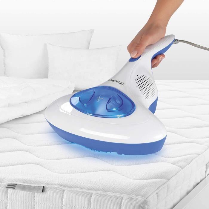 CLEANmaxx aspirateur à main anti-acariens idéal pour les personnes allergiques - nettoyeur de matelas stérilise les surfaces grâce à