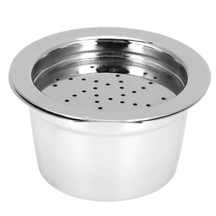 Capsule de café rechargeable Capsule de Café Tasse Filtre à Café Rechargeable Réutilisable avec Brosse Cuillère Adapté pour